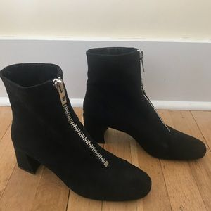 Mango Front-Zip Booties